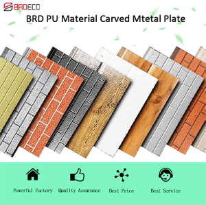 PU Metal Carved Insulated Sandwich Wall Panel